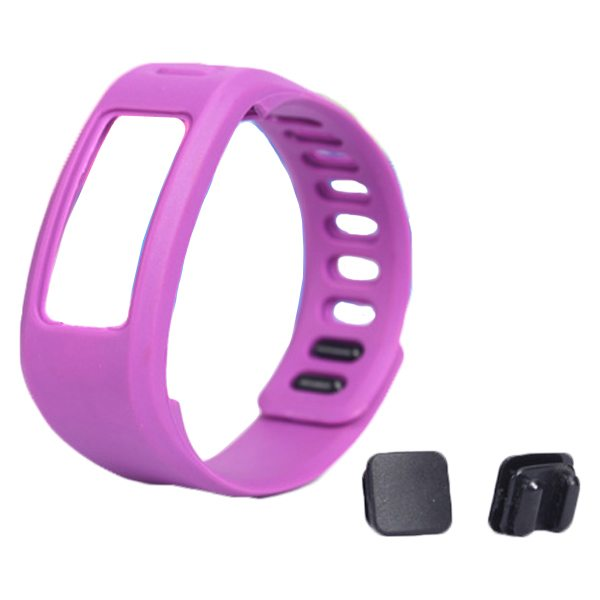 High Quality Eco-friendly TPE and TPU Replacement Wristband for Garmin Vivofit with Metal Clasp (Purple)