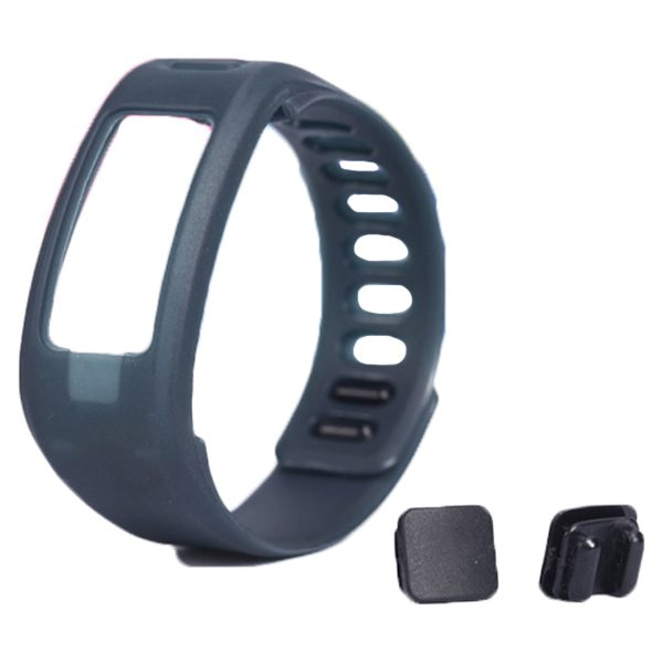 High Quality Eco-friendly TPE and TPU Replacement Wristband for Garmin Vivofit with Metal Clasp (Grey)