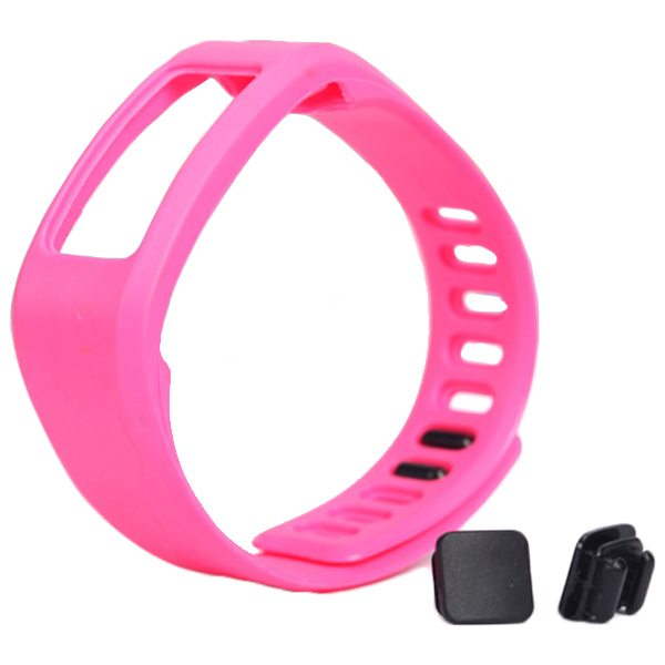 High Quality Eco-friendly TPE and TPU Replacement Wristband for Garmin Vivofit with Metal Clasp (Rose)