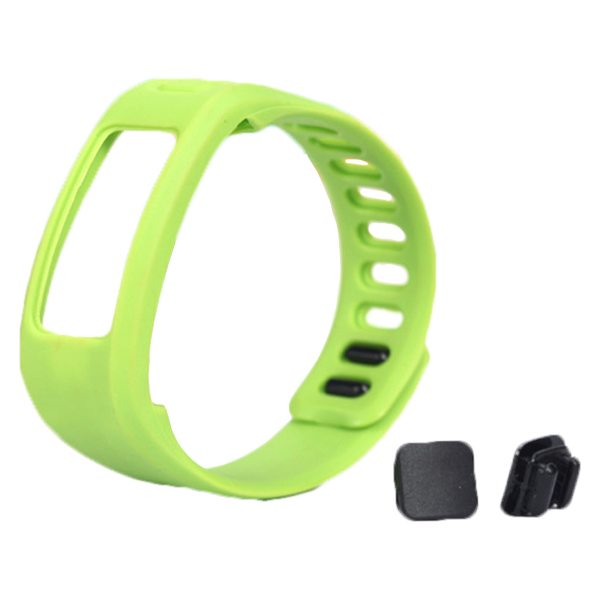 High Quality Eco-friendly TPE and TPU Replacement Wristband for Garmin Vivofit with Metal Clasp (Green)