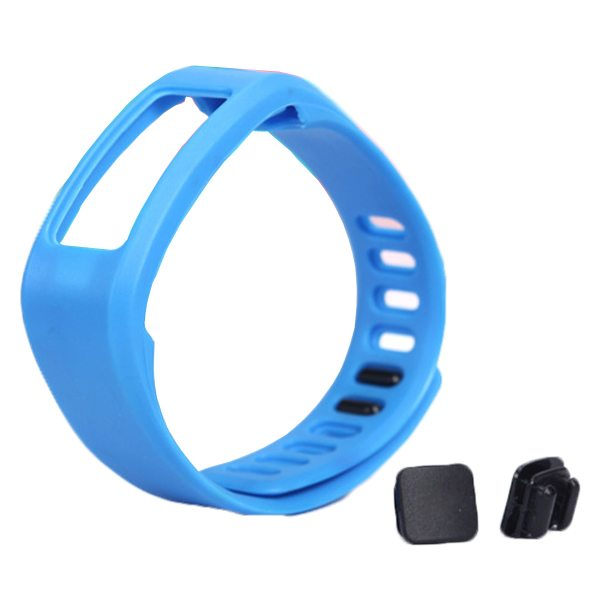 High Quality Eco-friendly TPE and TPU Replacement Wristband for Garmin Vivofit with Metal Clasp (Dark Blue)