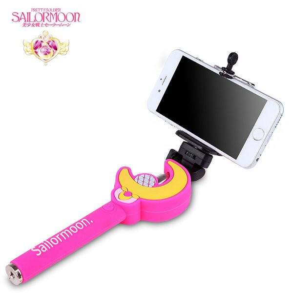 Extendable Fashion Cute Pattern Must-Have Selfie Portrait Selfie Stick Monopod (Sailormoon Two)