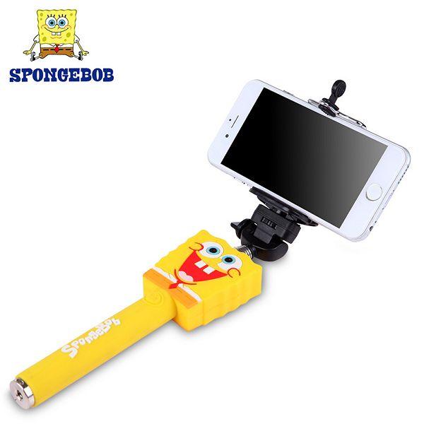 Extendable Fashion Cute Pattern Must-Have Selfie Portrait Selfie Stick Monopod (Spongebob)