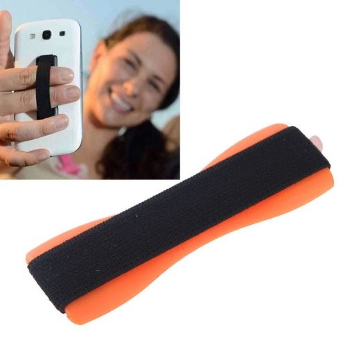 Finger Grip Phone Holder for iPhone 6/ 6 Plus/ iPhone 5/ 5S/ Samsung Galaxy S6/ S5/ Note 4/ 3/ 2/ HTC/ LG (Orange)
