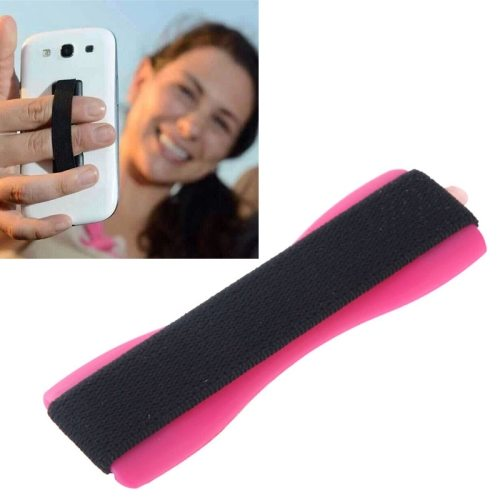 Finger Grip Phone Holder for iPhone 6/ 6 Plus/ iPhone 5/ 5S/ Samsung Galaxy S6/ S5/ Note 4/ 3/ 2/ HTC/ LG (Magenta)