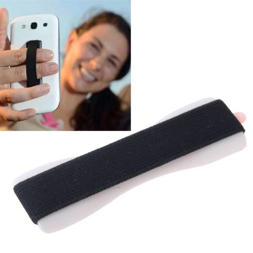 Finger Grip Phone Holder for iPhone 6/ 6 Plus/ iPhone 5/ 5S/ Samsung Galaxy S6/ S5/ Note 4/ 3/ 2/ HTC/ LG (White)