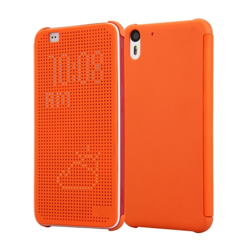 Dot View Design Hard PC Case for HTC Desire Eye with Sleep and Wake-up Function (Orange)