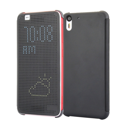 Dot View Design Hard PC Case for HTC Desire Eye with Sleep and Wake-up Function (Grey)