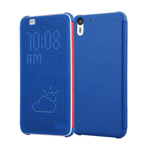 Dot View Design Hard PC Case for HTC Desire Eye with Sleep and Wake-up Function (Blue)