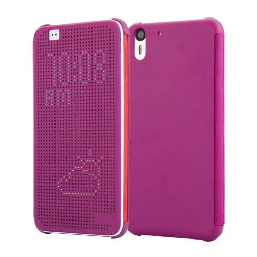 Dot View Design Hard PC Case for HTC Desire Eye with Sleep and Wake-up Function (Purple)