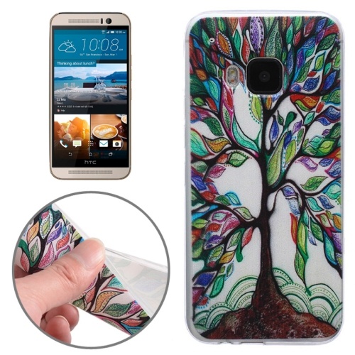 Ultrathin Soft TPU Protective Case for HTC One M9 (Colorful Tree Pattern)