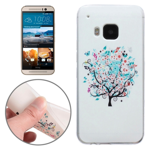 Ultrathin Soft TPU Protective Case for HTC One M9 (Flower Tree Pattern)
