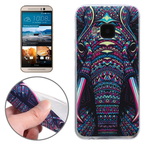 Ultrathin Soft TPU Protective Case for HTC One M9 (Elephant Nose Pattern)