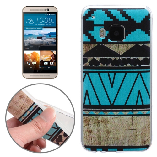 Ultrathin Soft TPU Protective Case for HTC One M9 (Blue Pattern)