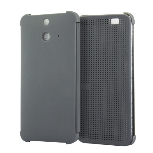 Dot View Design Hard PC Case for HTC One E8 with Sleep and Wake-up Function (Grey)
