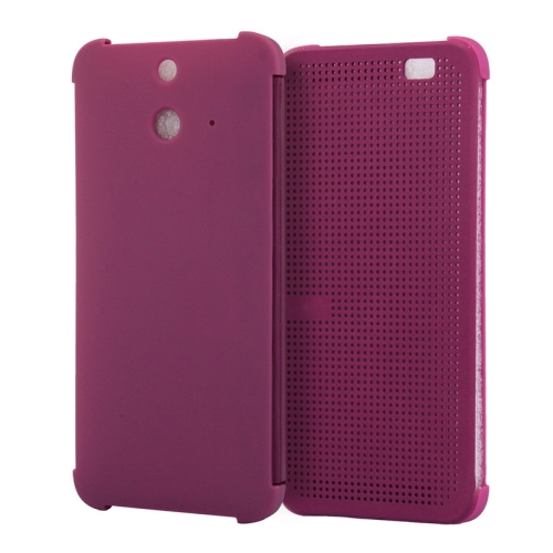 Dot View Design Hard PC Case for HTC One E8 with Sleep and Wake-up Function (Purple)