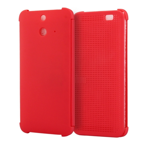 Dot View Design Hard PC Case for HTC One E8 with Sleep and Wake-up Function (Red)