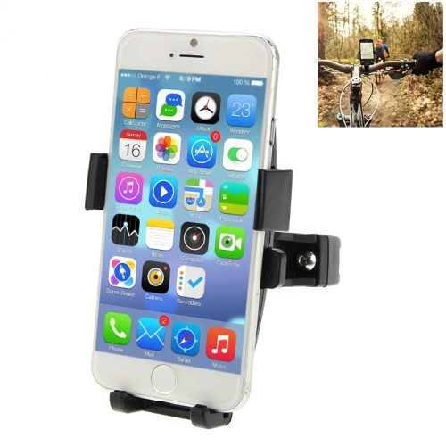 360 Degree Rotation Bicycle Phone Holder for iPhone 6/Plus ,iPhone 5/5S/5C, iPhone 4/4S (Black)