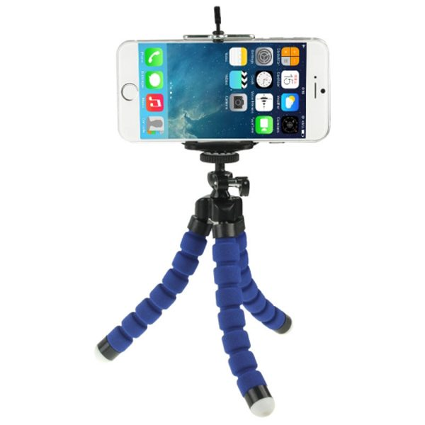 Flexible Octopus Mini Tripod for Mobile Phone and Digital Camera with Adjustable Holder (Blue)
