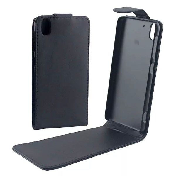 Up and Down Vertical Flip Leather Case for HTC Desire Eye with Magnetic Closure