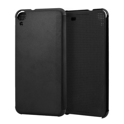 Dot View Design Hard PC Case for HTC Desire 820 with Sleep and Wake-up Function (Black)