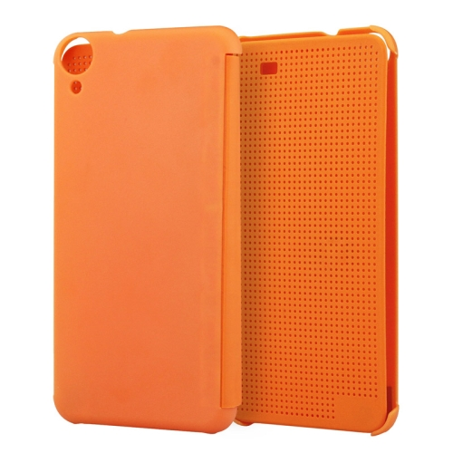 Dot View Design Hard PC Case for HTC Desire 820 with Sleep and Wake-up Function (Orange)
