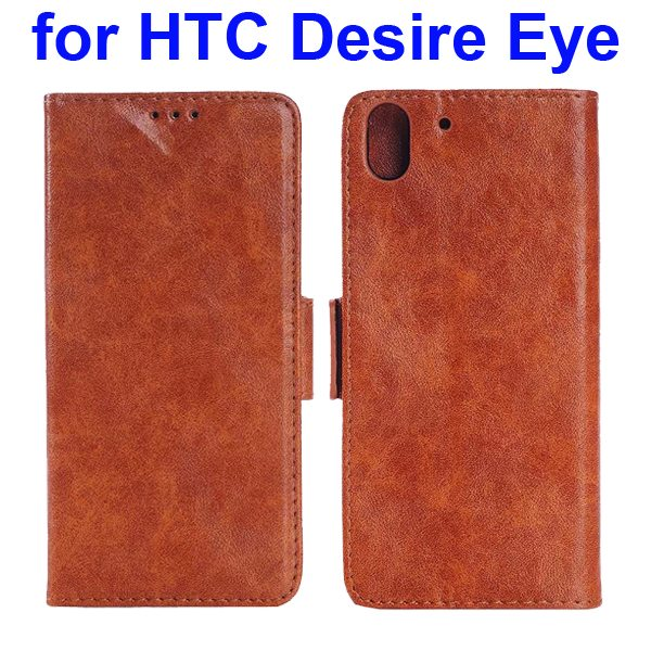Oil Printing Crazy Horse Texture Wallet Leather Case for HTC Desire Eye (Brown)