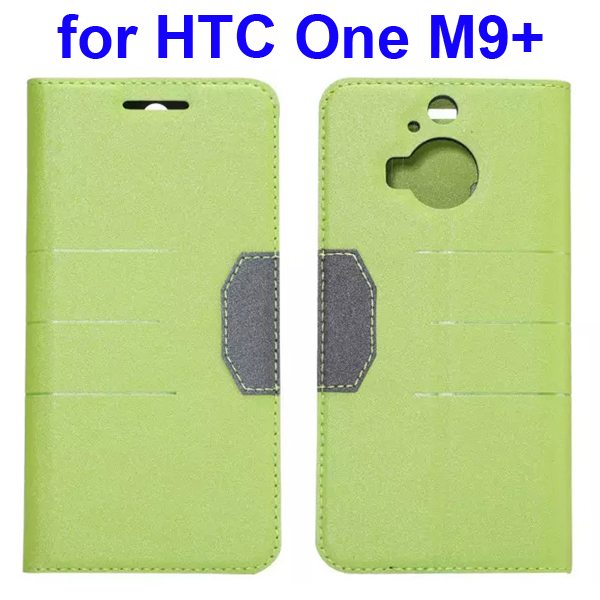 Wholesale Frosted PU Absorbed Flip Leather Cover Case for HTC One M9+ (Green)