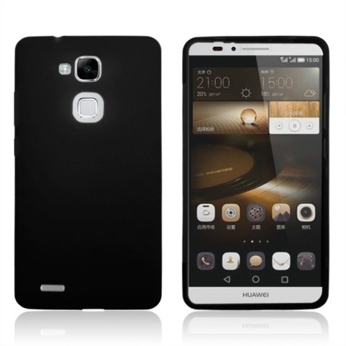Full Body TPU Protective Case for Huawei Mate 7 with Touchable Wallet Flip Screen (Black)