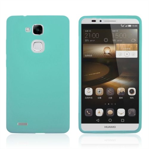 Full Body TPU Protective Case for Huawei Mate 7 with Touchable Wallet Flip Screen (Green)