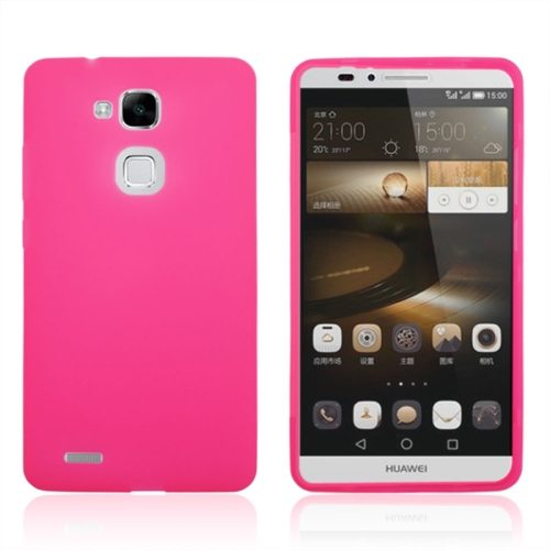 Full Body TPU Protective Case for Huawei Mate 7 with Touchable Wallet Flip Screen (Magenta)
