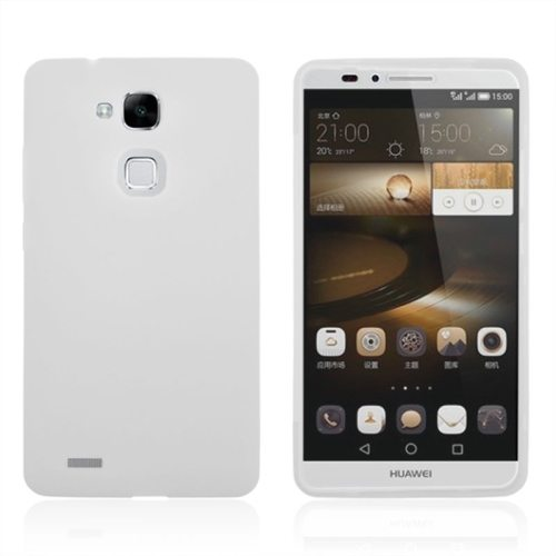 Full Body TPU Protective Case for Huawei Mate 7 with Touchable Wallet Flip Screen (White)