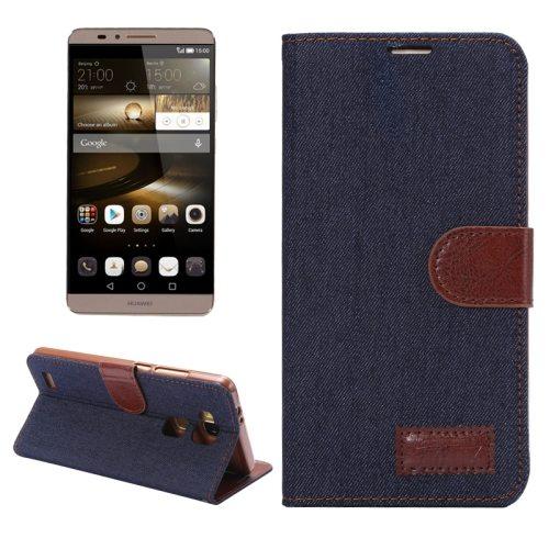 Denim texture Magnetic Flip Wallet Leather Case for Huawei Ascend Mate 7/ MT7 (Black)