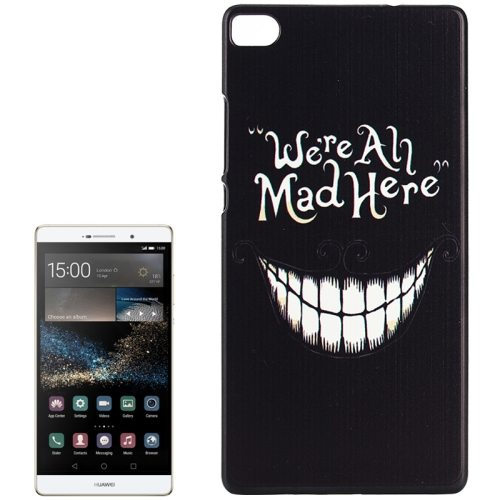 PC Ultra Slim Hard Back Case Protective Cover for Huawei Ascend P8 Smartphone (Smiling Tooth)