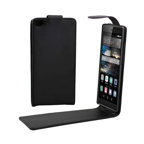 Vertical Flip Magnetic Button Leather Cover Case for Huawei P8