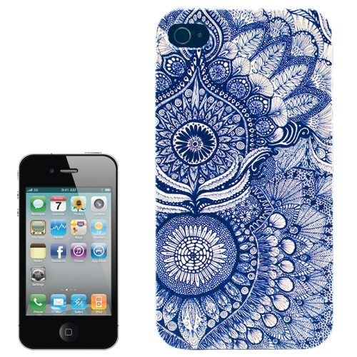 Colorful Designs Transparent Frame Colored Drawing Hard Plastic Case for iPhone 4 (Sunflower Pattern)