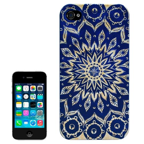 Special Pattern Frosted Black Back Shell Colored Drawing Plastic Case for iPhone 4S (Porcelain Pattern)