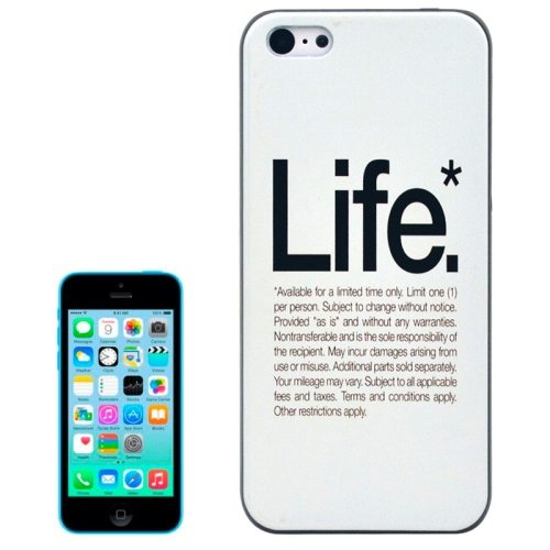 Special Pattern Frosted Black Back Shell Colored Drawing Plastic Case for iPhone 5C (Life)