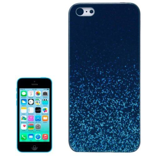 Special Pattern Frosted Black Back Shell Colored Drawing Plastic Case for iPhone 5C (Lake Wave)