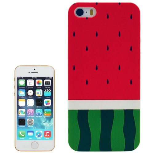 Watermelon Pattern Transparent Frame Colored Drawing Hard Case for iPhone 5/5S