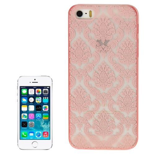 Embossed Flowers Pattern Hard Protective Case Cover for iPhone 5/ 5S (Pink)