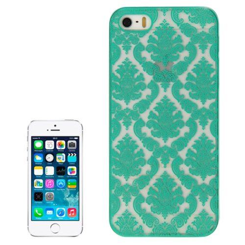 Embossed Flowers Pattern Hard Protective Case Cover for iPhone 5/ 5S (Green)