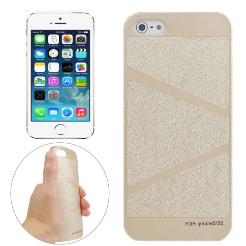 Trapezoid Pattern Frosted Paste Skin PC Protective Case for iPhone 5 & 5S (Pattern 3)