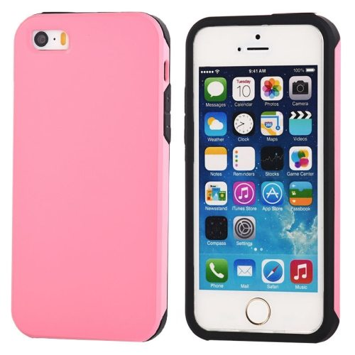 Ultra-thin Shockproof Surface Screen Combination Case for iPhone 5 & 5S (Pink)