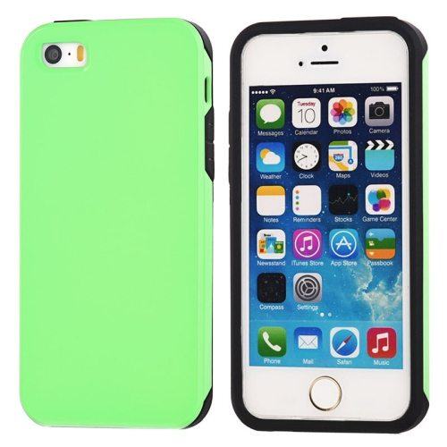 Ultra-thin Shockproof Surface Screen Combination Case for iPhone 5 & 5S (Green)
