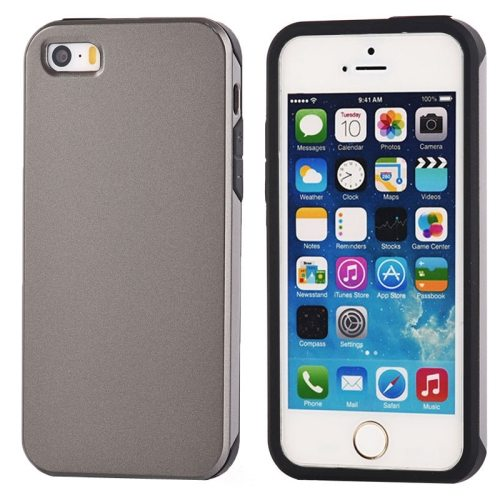 Ultra-thin Shockproof Surface Screen Combination Case for iPhone 5 & 5S (Grey)