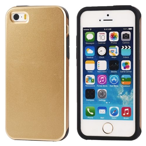 Ultra-thin Shockproof Surface Screen Combination Case for iPhone 5 & 5S (Gold)