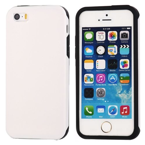 Ultra-thin Shockproof Surface Screen Combination Case for iPhone 5 & 5S (White)