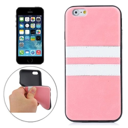 Fashion Design Double Colored Protective TPU Case for iPhone 5 & 5S (Pink)