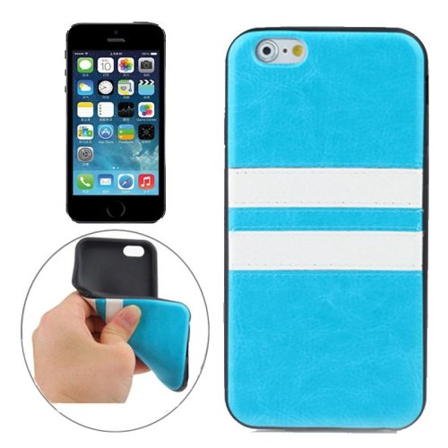 Fashion Design Double Colored Protective TPU Case for iPhone 5 & 5S (Blue)